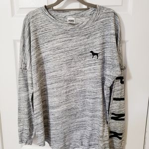 PINK Victoria's Secret Gray Oversized Shirt